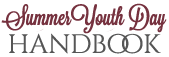 Summer Youth Day Handbook Text Logo