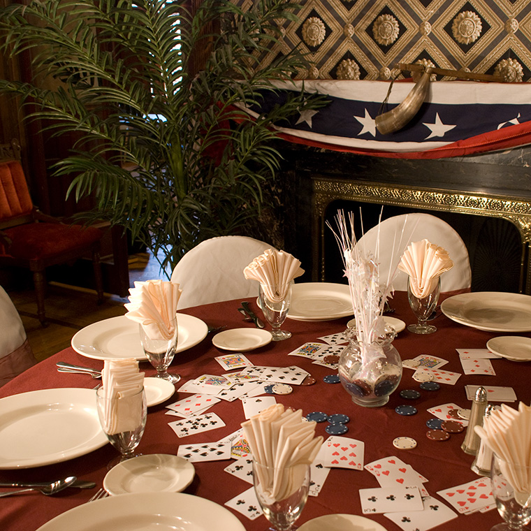 Theater in the Mansion Table Settings