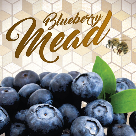 blueberry honey mead label