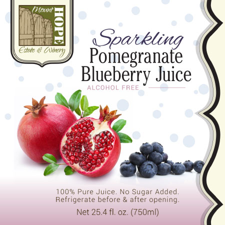 sparkling blueberry label