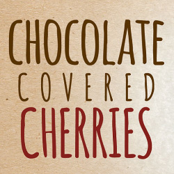 chocolate cherries label