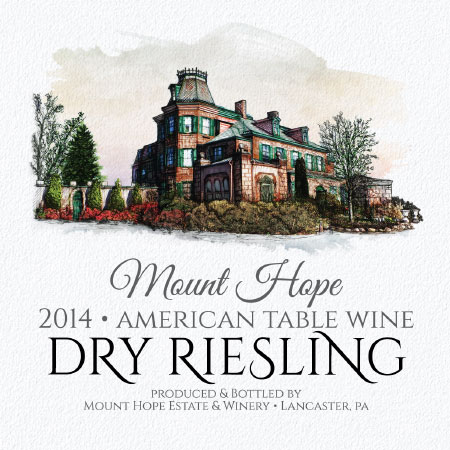 dry riesling label