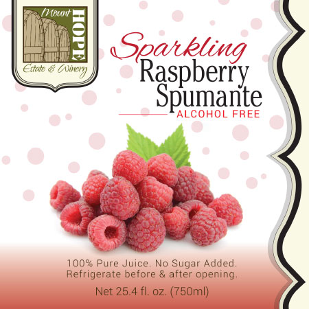 sparkling raspberry label