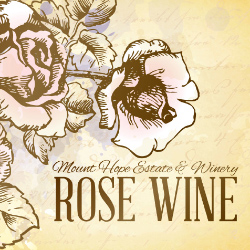 mount hope rose label